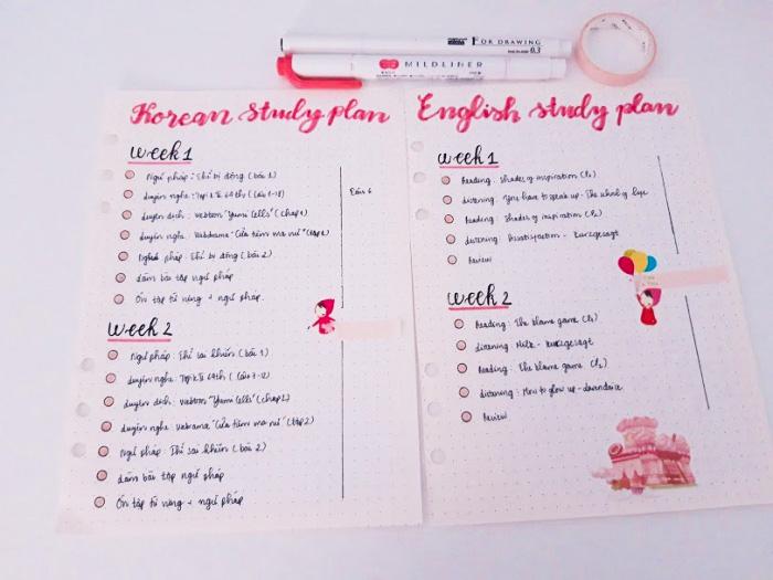 """""""Study Plan"""" của mình"""
