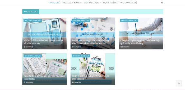 Giao diện trang web dễ thương của Learn With Me