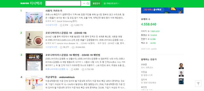 Bách khoa tri thức là tính năng hữu ích trên Naver-dic phiên bản PC