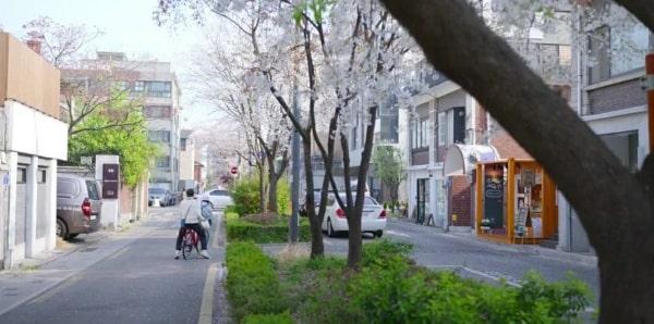 Phần lớn cảnh quay trong phim đều có khung cảnh của mùa xuân